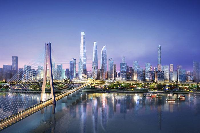 The European Centre | Wuhan Bridgehead CBD, Wuhan, China ...