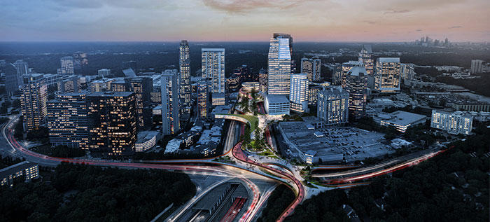 Buckhead Park Over GA400, Atlanta, Georgia, USA | 2016